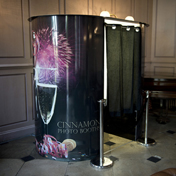 Cinnamon Photo Booth Hire Seated Champagne Photo Booth