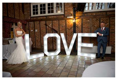illuminated letters for hire